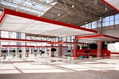 Rote Halle Stockfotografie