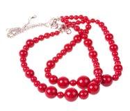 Rote Halskette Stockbild