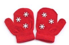 Rote Handschuhe Lizenzfreies Stockbild
