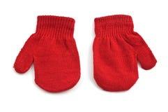 Rote Handschuhe Stockfotos