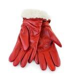 Rote Handschuhe Lizenzfreie Stockbilder