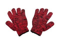 Rote Handschuhe Stockfoto