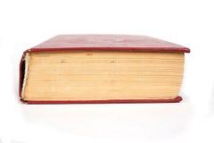 Rote harte Abdeckung des großen Buches Stockfotografie