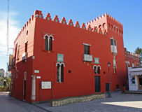 Rote Haus-Casa Rossa Stockbilder