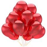 Rote Heliumparty Ballons (Mieten) Stockfotos