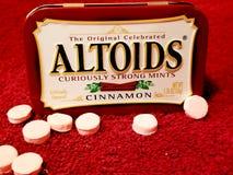 Rote Herausforderung Altoids lizenzfreies stockfoto