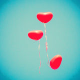 Rote Herz-förmige Ballone Lizenzfreies Stockbild