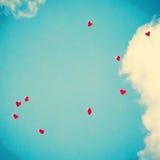Rote Herz-förmige Ballone Stockfotografie