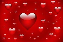 Rote Herzen lizenzfreies stockbild