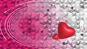 Rote Herzen auf Hintergrund Stockbild