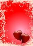 rote Herzen des Hintergrundes zwei Stockbild