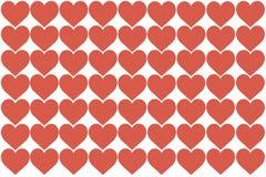 Rote Herzen entwerfen auf weißem Hintergrund Liebe, Herz, Valentinstag Kann für Artikel, Drucken, Illustrationszweck verwendet we vektor abbildung