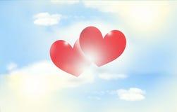 Rote Herzen im Freien Lizenzfreie Stockfotografie