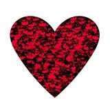 Rote Herzen und musikalische Anmerkungen über Schwarzes Lizenzfreies Stockfoto