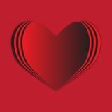 Rote Herzhintergrund-Liebesleidenschaft lizenzfreie abbildung