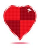 Rote Herzzusammenfassung Stockfotografie
