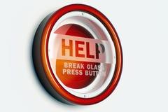 Rote Hilfenwarnungstaste Stockfotos