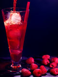 Rote Himbeercocktail auf dunklem Hintergrund 12 Lizenzfreie Stockfotografie