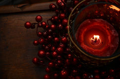 Rote Holly Glow stockfotos