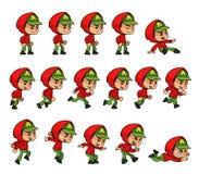 Rote Hoodie-Jungen-Spiel-Elfen Stockbild