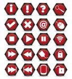 Rote Ikone Vektor Abbildung