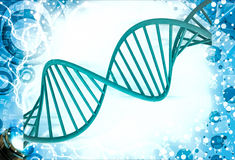 rote Illustration DNA-3d Stockfoto