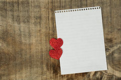 Rote Innere und Weißbuchblatt Lizenzfreies Stockbild