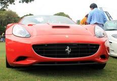 Rote italienische moderne Vorderansicht des Sportautos Stockbild