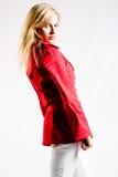 Rote Jacke stockbild