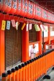 Rote japanische Laternen Lizenzfreies Stockfoto