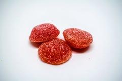 Rote Jelly Ball Closeup Stockfotografie