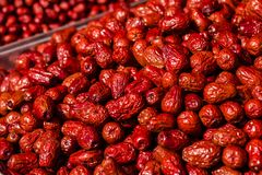Rote Jujube Stockfotos