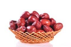 Rote Jujube--ein Lebensmittel des traditionellen Chinesen Stockbild