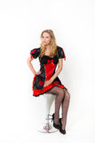 Rote Königin cosplay - recht junge Frau Stockfoto