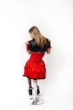 Rote Königin cosplay - recht junge Frau Stockbilder