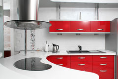 Rote Küche Lizenzfreie Stockbilder