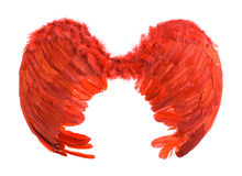 Rote künstliche Engelsflügel Stockbilder
