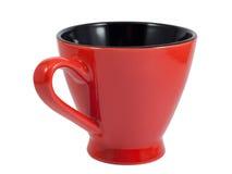 Rote Kaffeetasse Stockbild