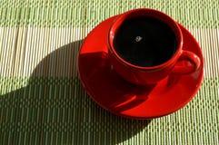 Rote Kaffeetasse Lizenzfreie Stockbilder