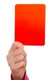 Rote Karte Lizenzfreies Stockfoto