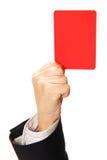 Rote Karte Lizenzfreies Stockbild