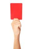 Rote Karte Stockfotografie