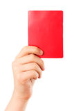 Rote Karte in der Hand Lizenzfreie Stockfotografie