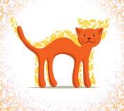 Rote Katze lizenzfreie abbildung