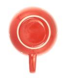 Rote keramische Teeschale lokalisiert Lizenzfreie Stockfotos