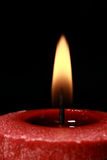 Rote Kerze, Ölerfilz lizenzfreies stockbild