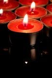 Rote Kerze Lizenzfreie Stockbilder
