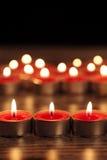 Rote Kerze Lizenzfreies Stockfoto