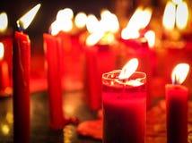 Rote Kerzeleuchte Stockbilder