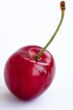 Rote Kirsche auf einem weißen Hintergrund Stockbild